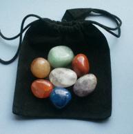 Bag of chakra stones